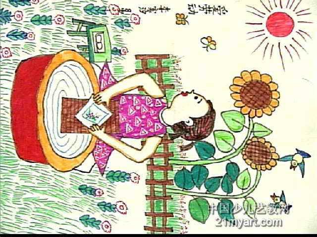 爱劳动儿童画5幅(第3张)