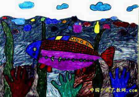 森林五号屋儿童画 世界杯儿童画2幅