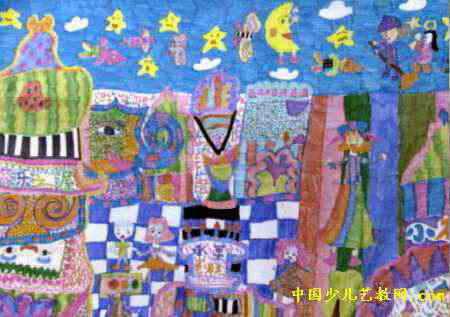 幸福的生日party儿童画