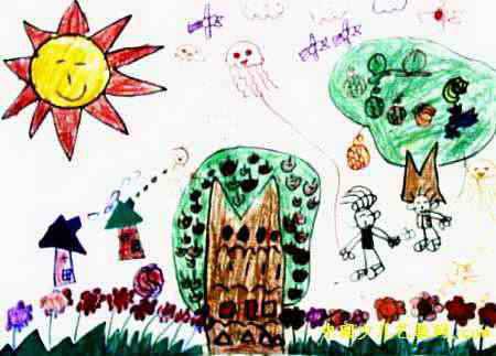 快乐的一天儿童画5幅 第2张