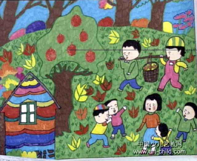 春天的故事儿童画2幅图片