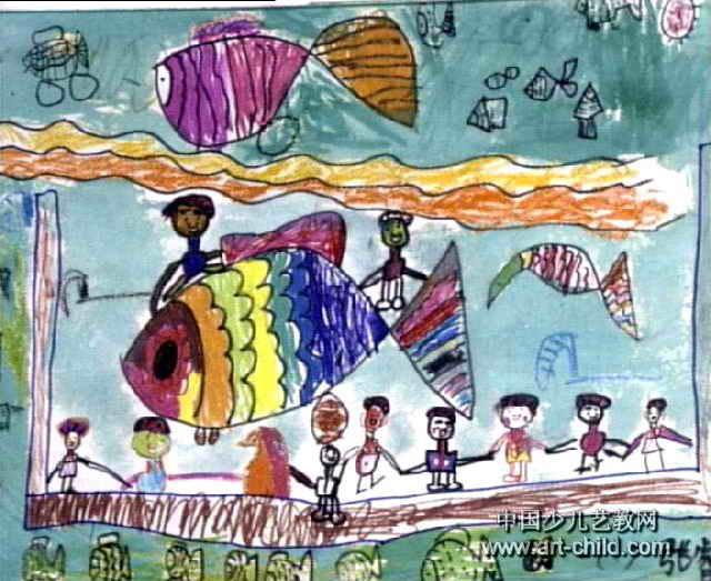 小朋友和图片童画作品欣赏小学生暑假v图片时间表鱼儿图片