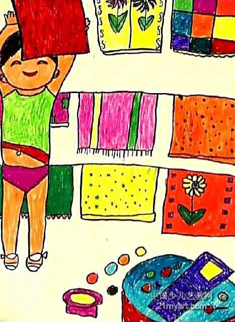爱劳动儿童画5幅