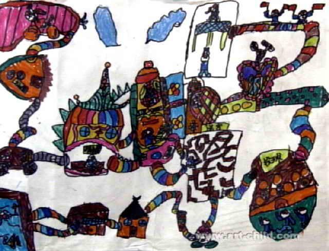 奇妙的世界儿童画图片