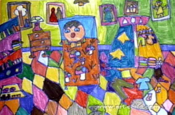 东东的房间儿童画