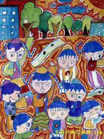 我们的世界儿童画2幅