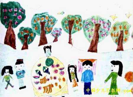 我的家乡儿童画属于水彩画