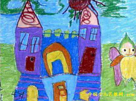 小精灵的家儿童画