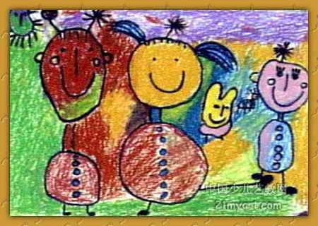 我爱音乐油画棒儿童画