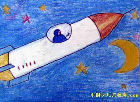 太空物体儿童画内容 太空物体儿童画版面设计图片
