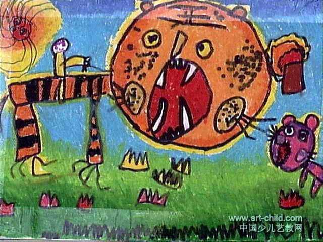 我真神气儿童画作品欣赏