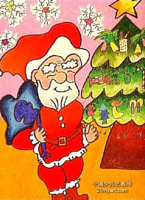 圣诞老人儿童画