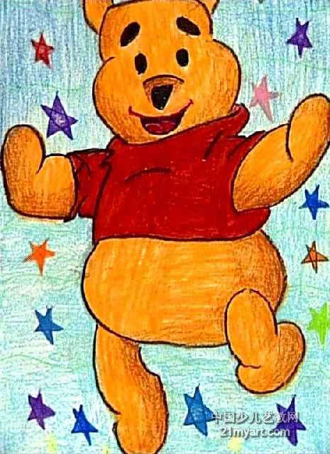 儿童画 儿童油画棒画