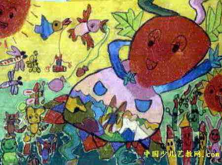 葫芦娃过生日儿童画