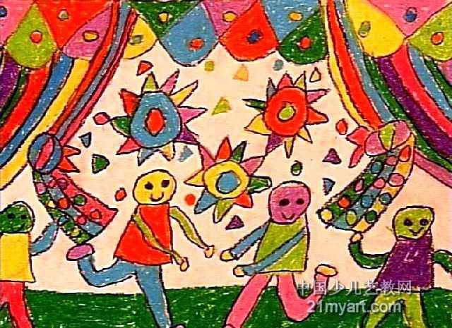 动物花灯儿童画_琴棋书画