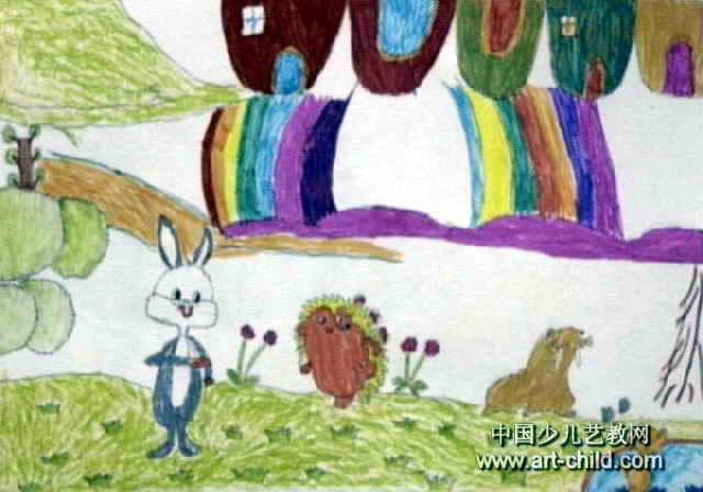 快乐动物园儿童画
