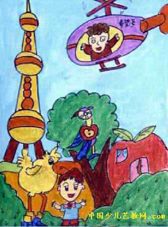 美丽的世界儿童画3幅