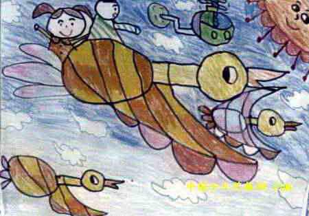 飞翔吧大雁儿童画
