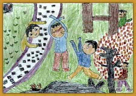 捉迷藏儿童画(一)8幅