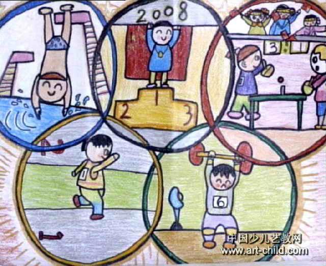 我的梦想儿童画作品-冠军梦儿童画作品欣赏