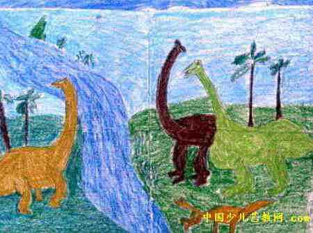 动物世界儿童画10幅图片