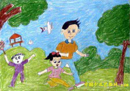健康生活每一天儿童画