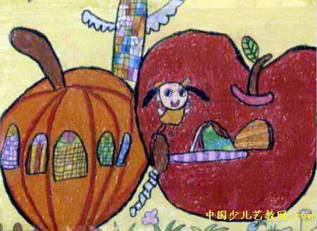 神奇的房子儿童画10幅(第5张)