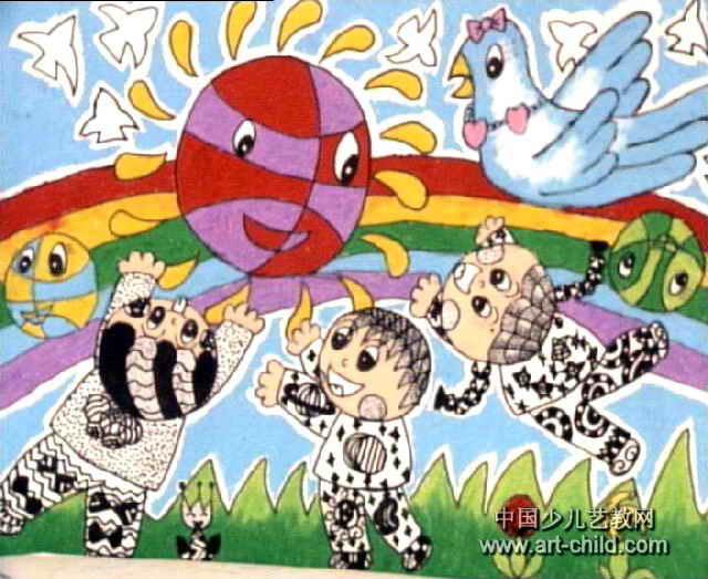 星际足球赛儿童画2幅