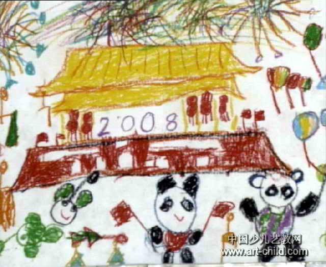 2008年我们也要去北京儿童画作品欣赏