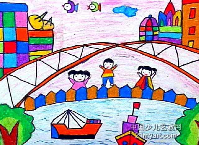 宁波新貌儿童画作品欣赏
