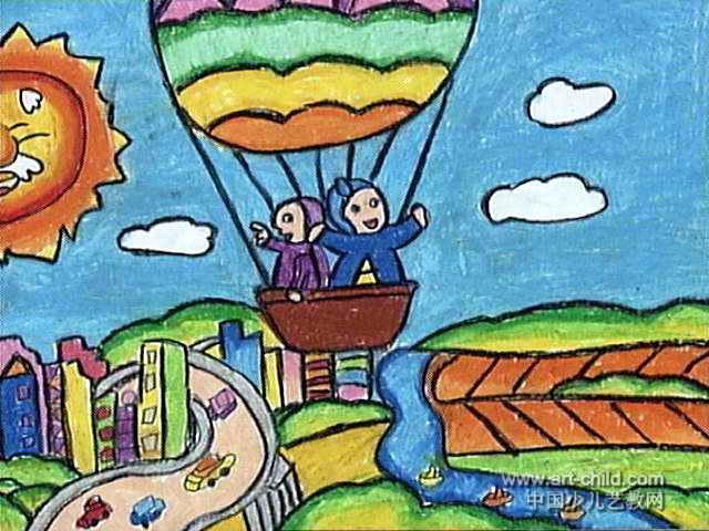 家乡好风光儿童画作品欣赏