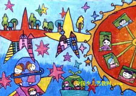 未来太空儿童画2幅