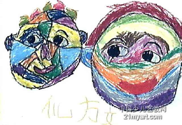 两个孙猴子儿童画