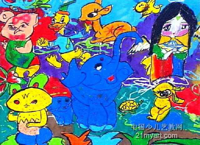 要保护小动物儿童画作品欣赏
