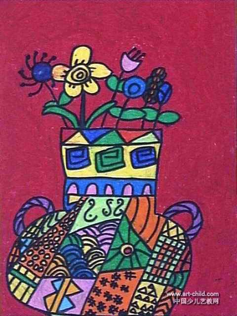 美丽的花瓶儿童画7幅