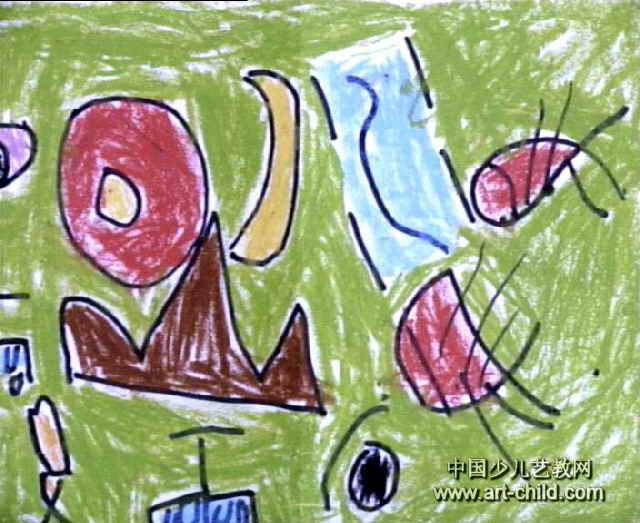 象形文字画儿童画作品欣赏