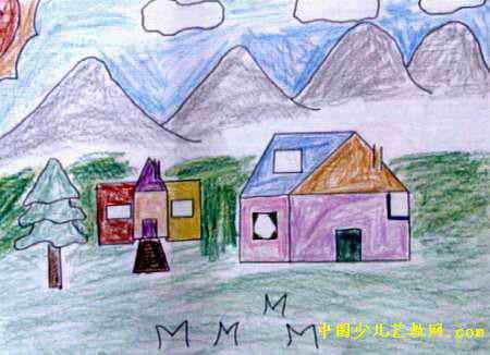 美丽的家园儿童画15幅