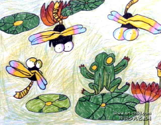 蜻蜓儿童画属于油画棒画