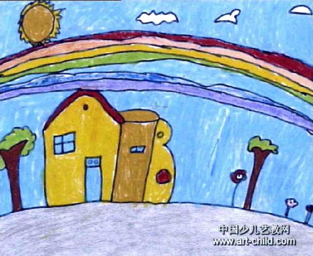 儿童画大全图片彩虹图片