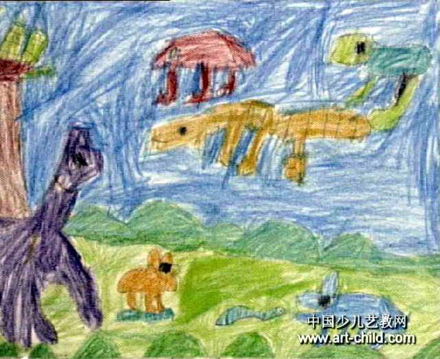 恐龙世界儿童画(一)8幅(第5张)