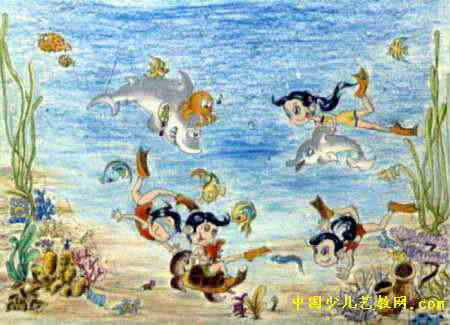 海底乐园儿童画6幅(第3张)