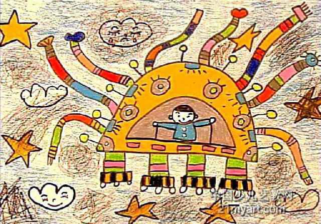 环保小卫士儿童画3幅