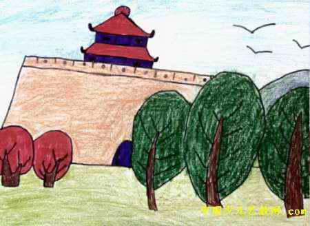 古城儿童画属于油画棒画