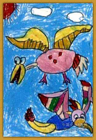 翼龙儿童画