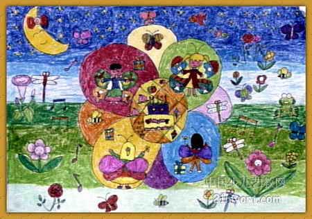 水果汽车儿童画