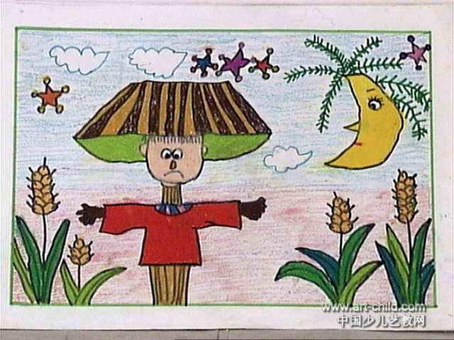 稻草人儿童画7幅