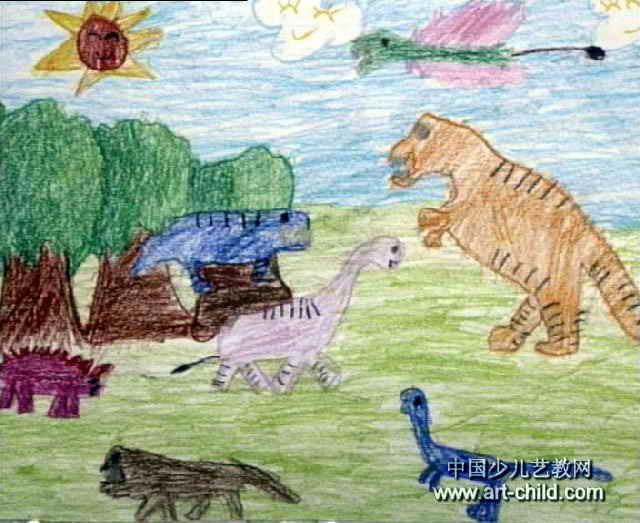 恐龙世界儿童画(一)8幅(第6张)