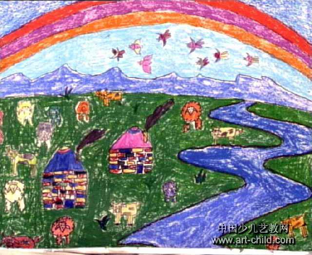 我的家乡儿童画15幅(第3张)