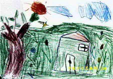 儿童画/儿童画美丽/美丽春天儿童画属于油画棒画,大小为314x450像素,...