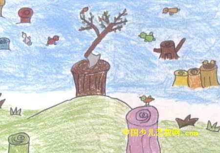 简笔画 儿童画 儿童油画棒画